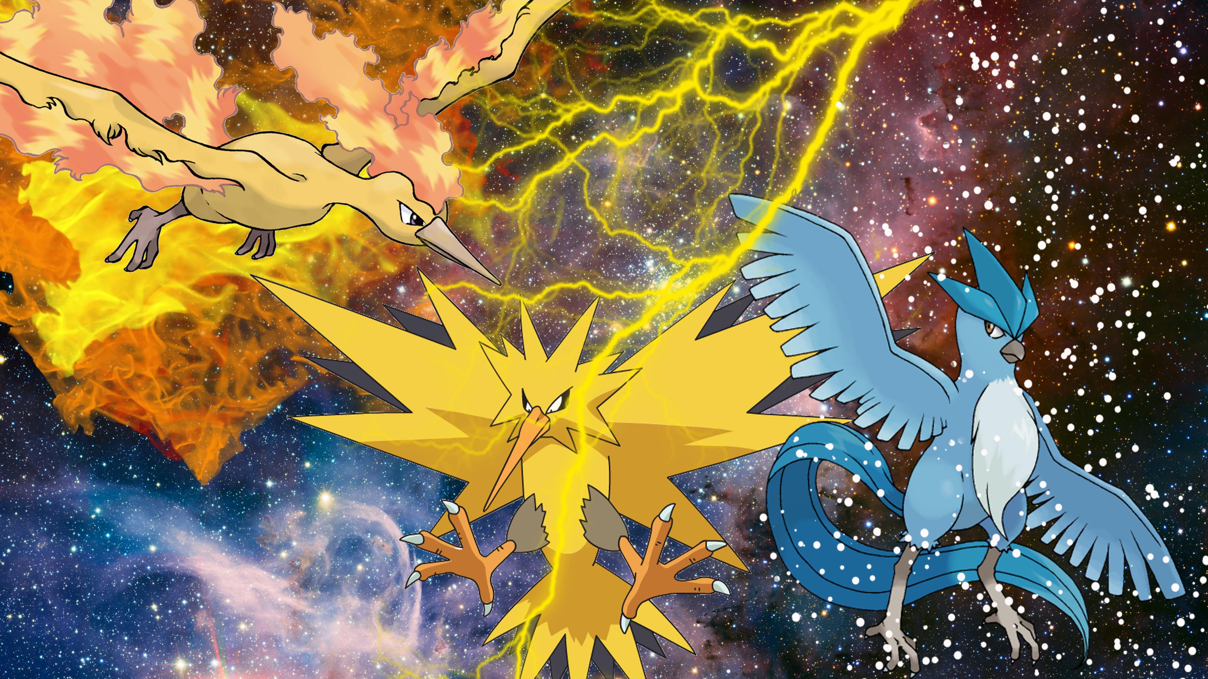 Pokemon Wallpaper Zapdos Moltres Articuno 3840x2160 Download Hd Wallpaper Wallpapertip