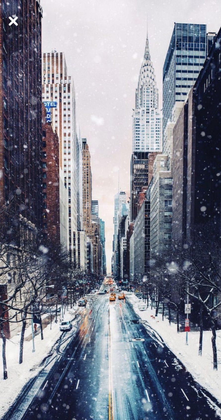 Nyc Winter Iphone Wallpaper Iphone Winter Wallpaper 4k 890x1691 Download Hd Wallpaper Wallpapertip