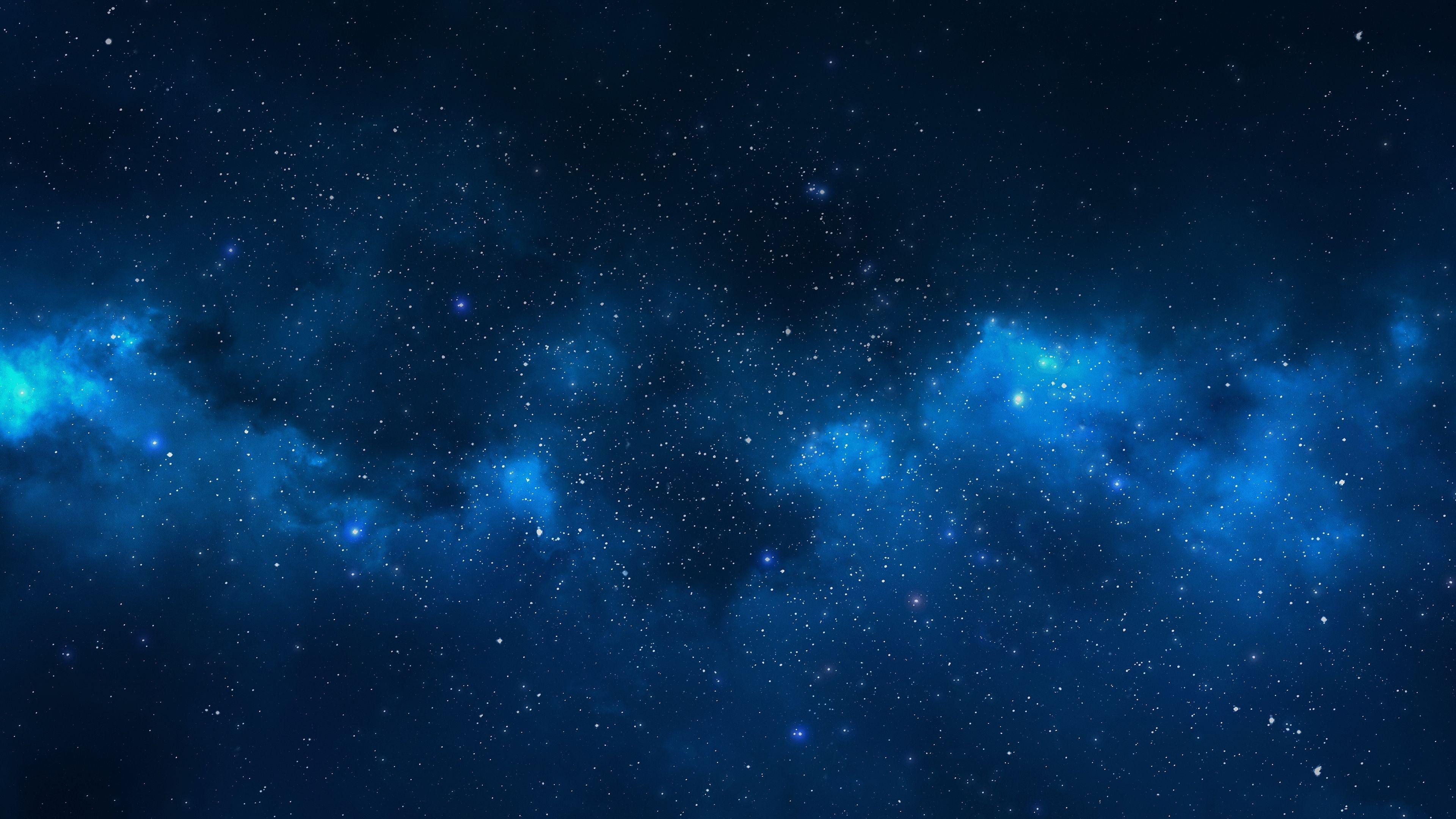 青い銀河の背景 銀河の壁紙 19x1080 Wallpapertip