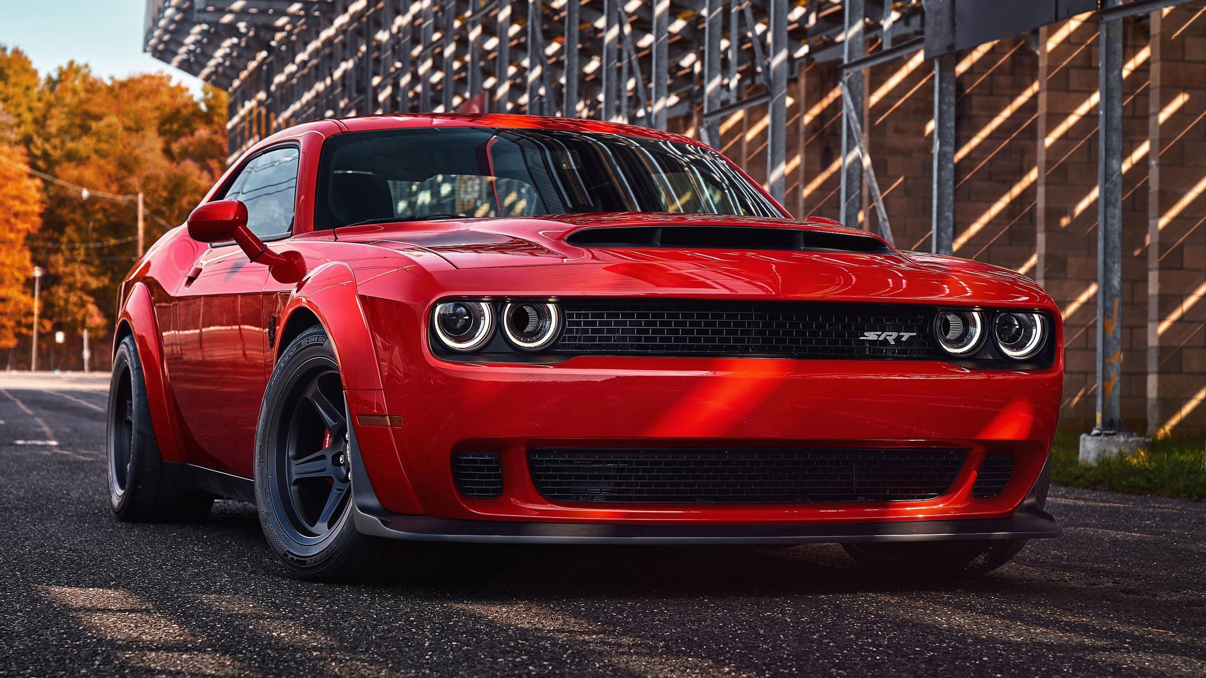 4k Car Wallpaper Dodge Demon Challenger Srt Muscle - 4k ...