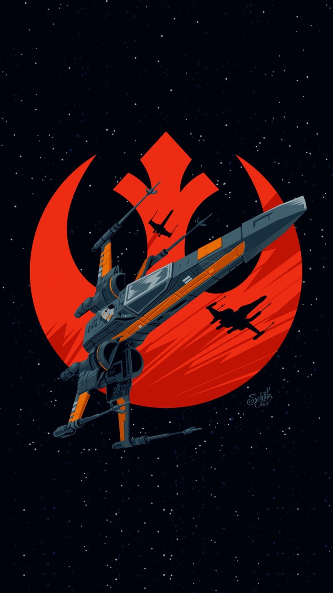 Cool Wallpapers For Phones Phone Wallpapers Cellphone Star Wars X Wing Fan Art 1080x1920 Download Hd Wallpaper Wallpapertip