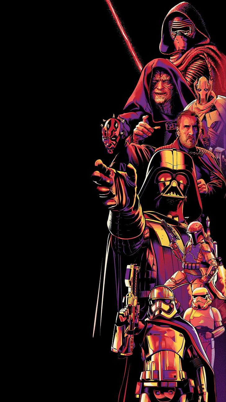 Amoled Dark Star Wars Vertical Hd Wallpaper Star Wars Art Wallpaper Iphone 728x1294 Download Hd Wallpaper Wallpapertip