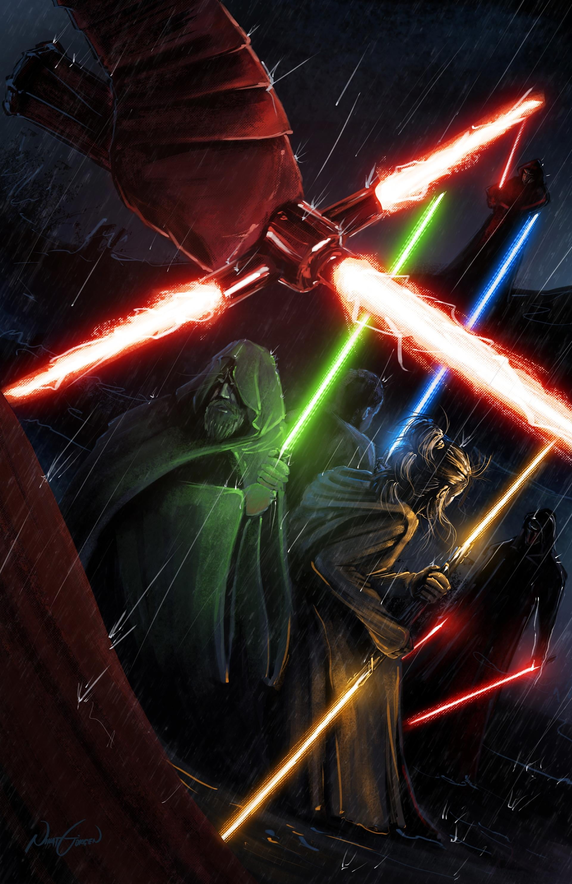 Star Wars Iphone Wallpaper Lightsaber 1920x2967 Download Hd Wallpaper Wallpapertip