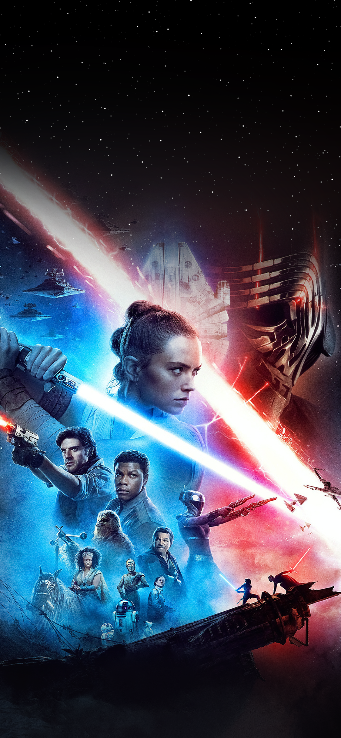 Star Wars The Rise Of Skywalker Movie Poster 1108x2400 Download Hd Wallpaper Wallpapertip