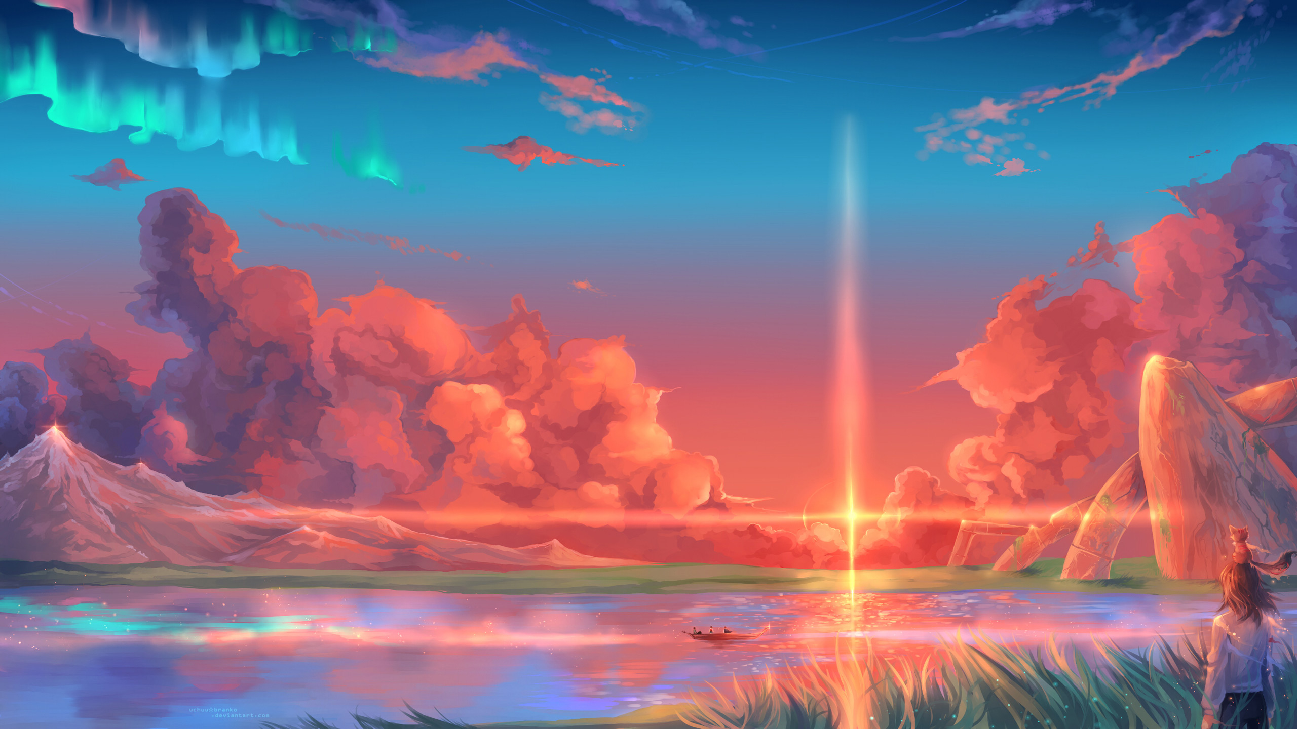 0 4599 anime fantasy landscape wallpapers for android for aesthetic