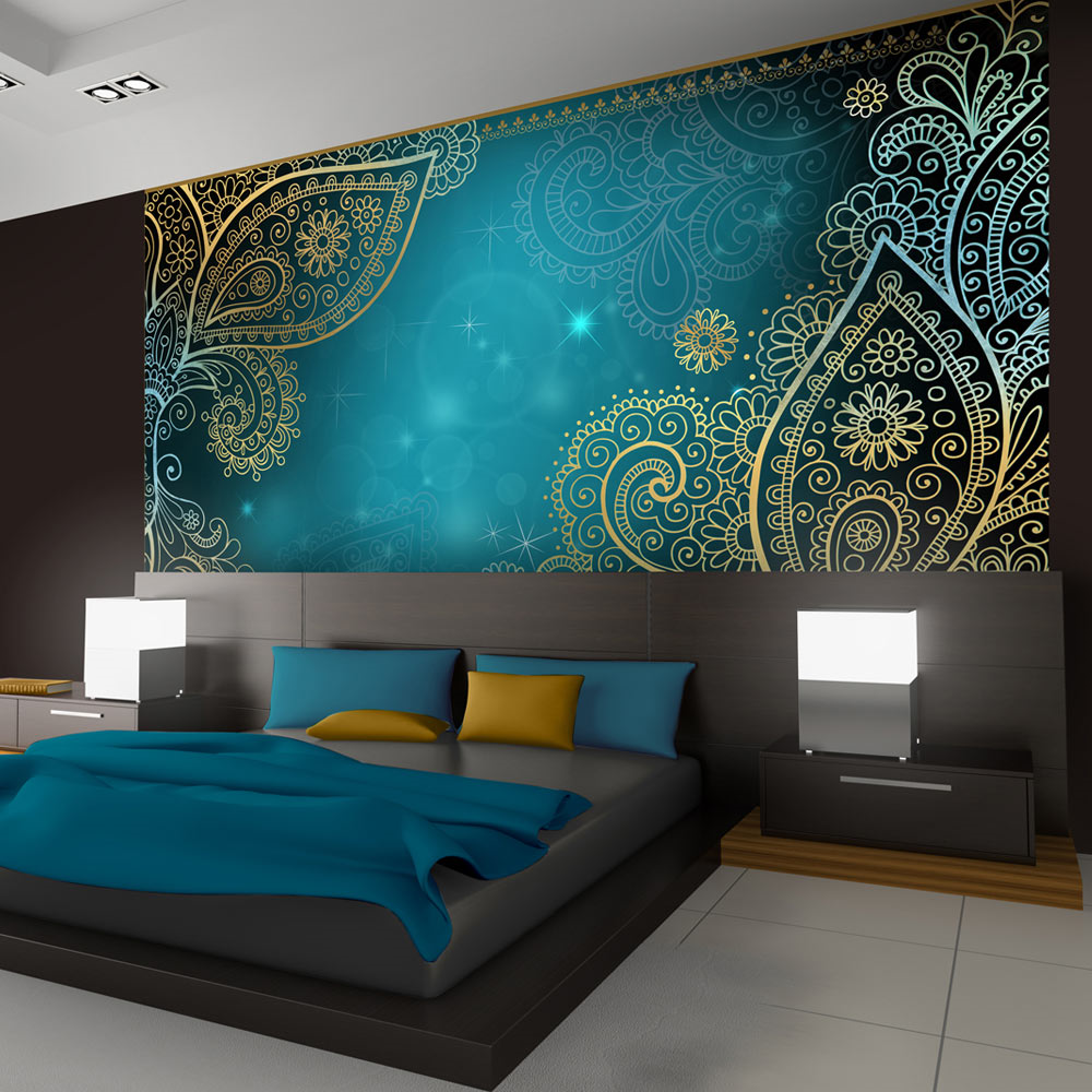 3d Wallpaper For Bedroom Ideas - Bed Back Wall Paper Design