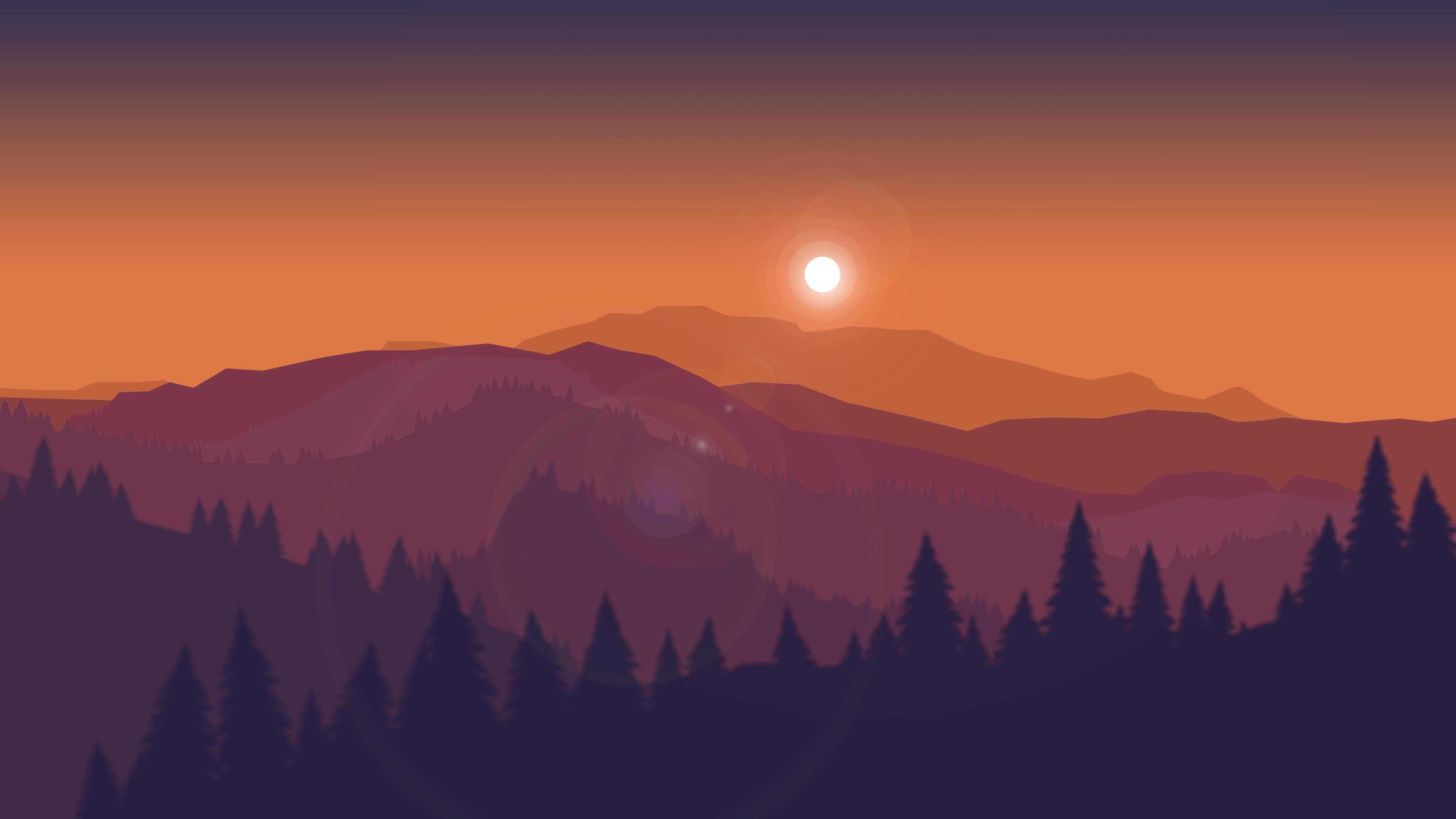 Sunset Mountain Wallpaper 4k 3840x2160 Download Hd Wallpaper Wallpapertip