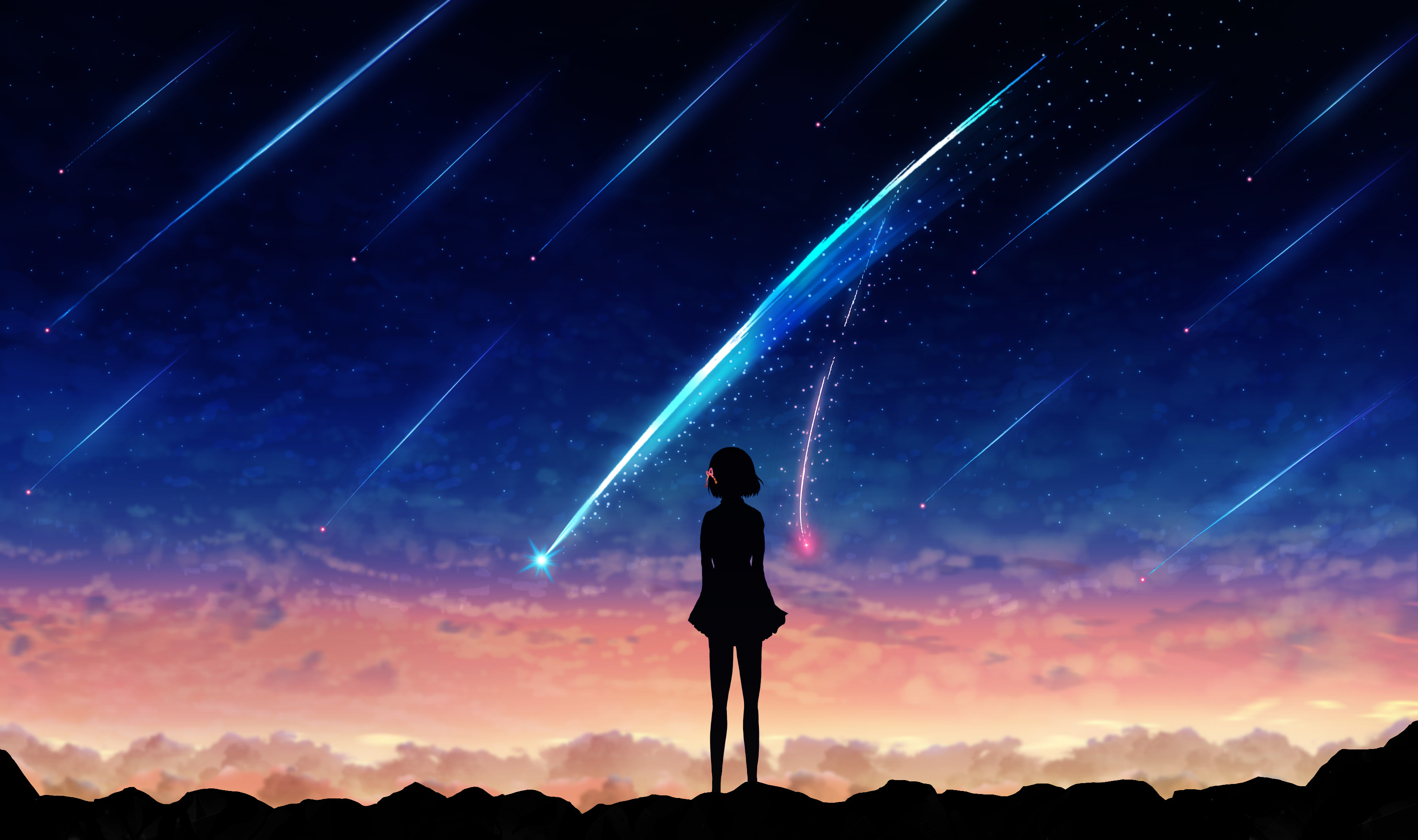 Mitsuha Miyamizu Kimi No Na Wa Your Name Wallpaper 4k 3240x1920 Download Hd Wallpaper Wallpapertip