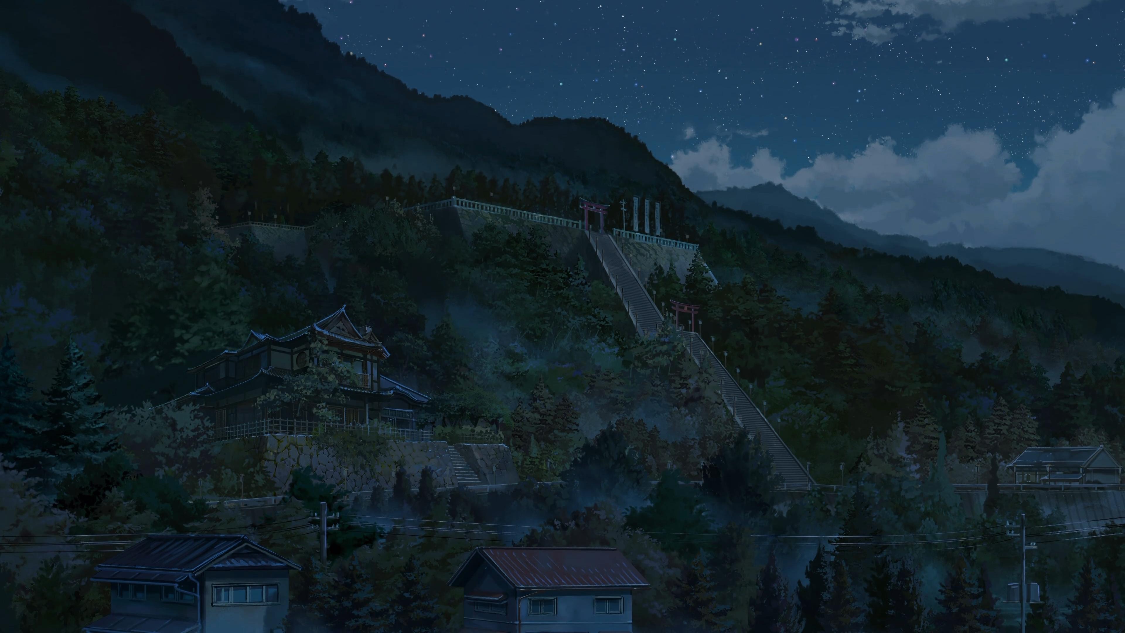 アニメ山の家gif 君の名は壁紙 3840x2160 Wallpapertip