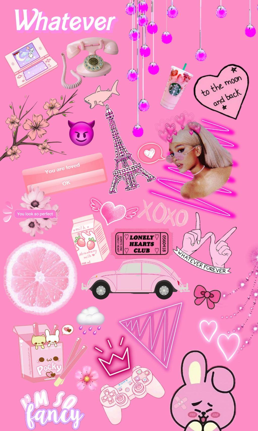 0 809 freetoedit tumblr pink background wallpaper girly collage