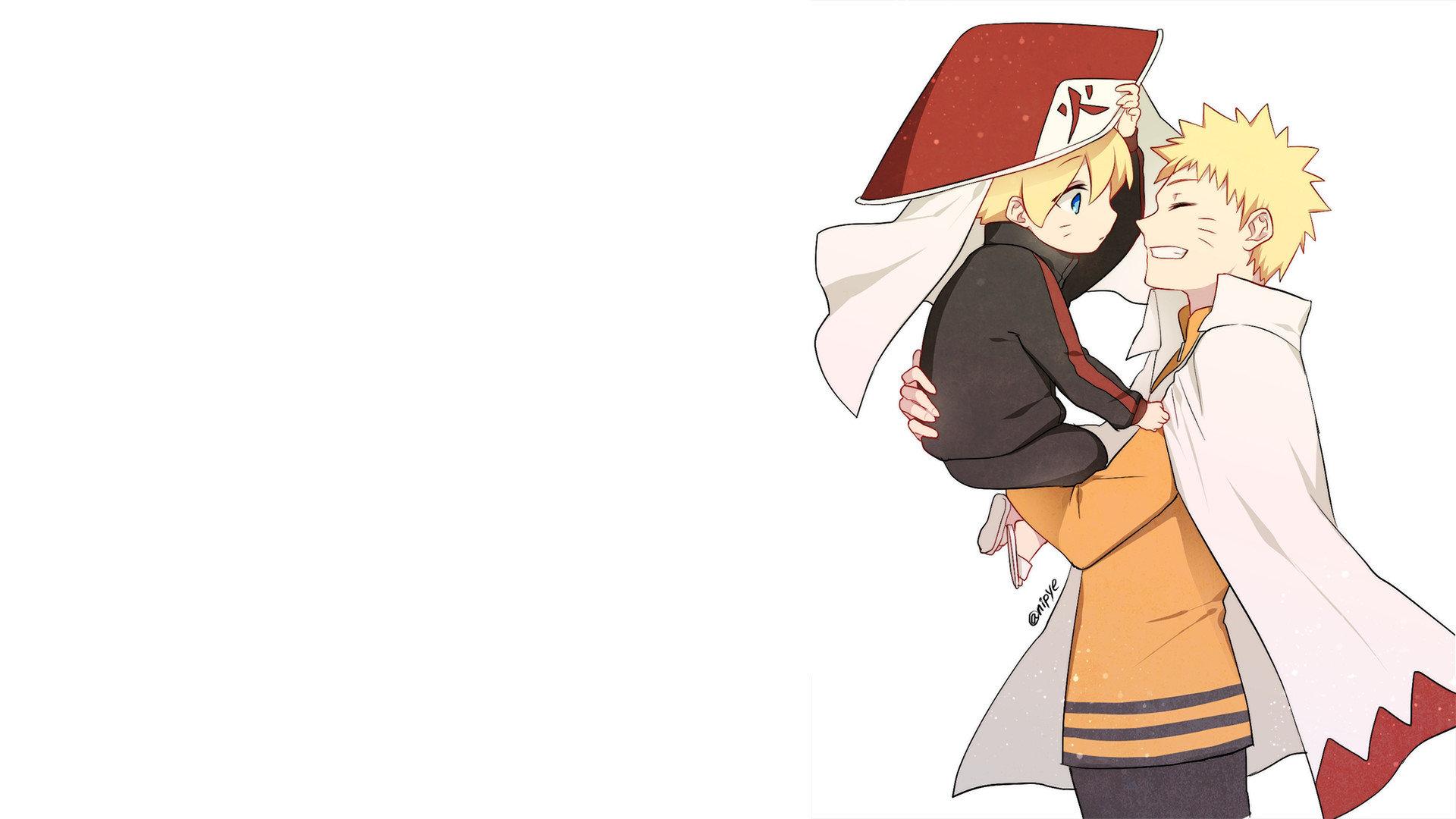 Naruto Boruto Hd Wallpaper Backgrounds Naruto And Boruto Cute 1920x1080 Download Hd Wallpaper Wallpapertip
