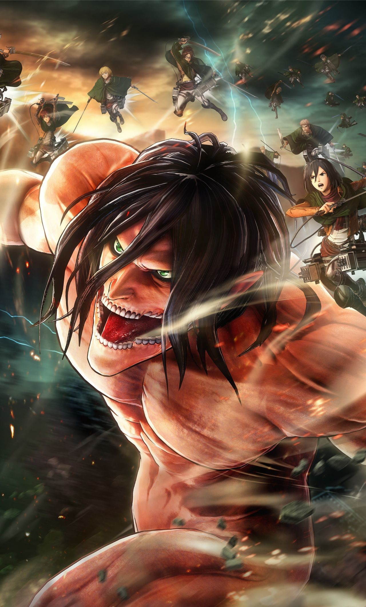 Attack On Titan Wallpaper Attack On Titan Ios Wallpaper Iphone Attack On Titan 1280x2120 Download Hd Wallpaper Wallpapertip