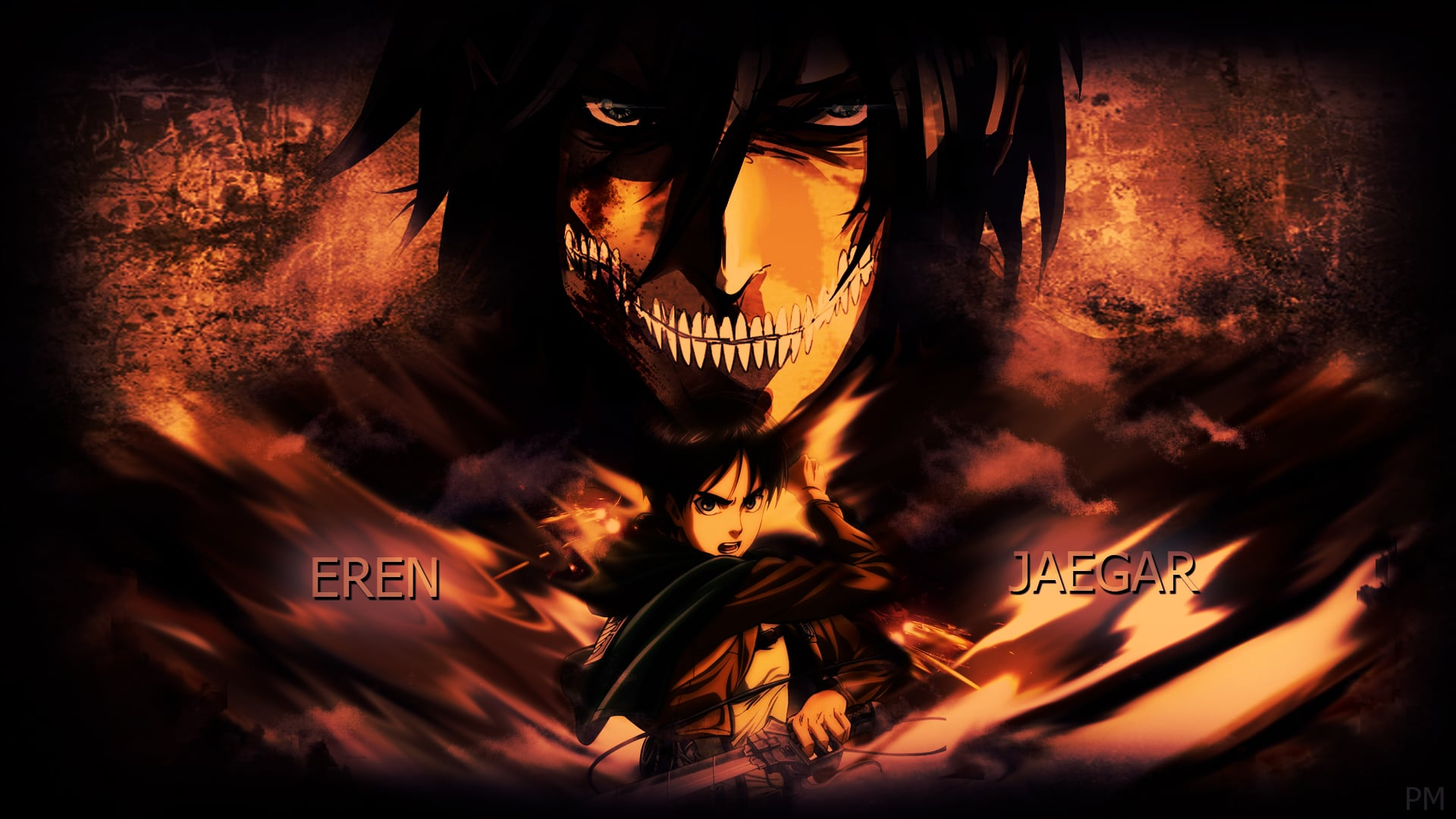 Attack On Titans Wallpapers Hd Hd Wallpaper Backgrounds Attack On Titan Desktop Wallpaper Eren 1920x1080 Download Hd Wallpaper Wallpapertip