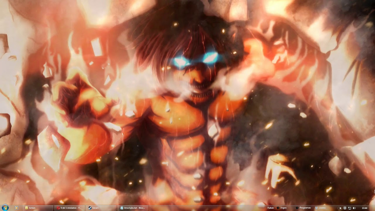 Attack On Titan Le Titan D Eren 1280x720 Download Hd Wallpaper Wallpapertip