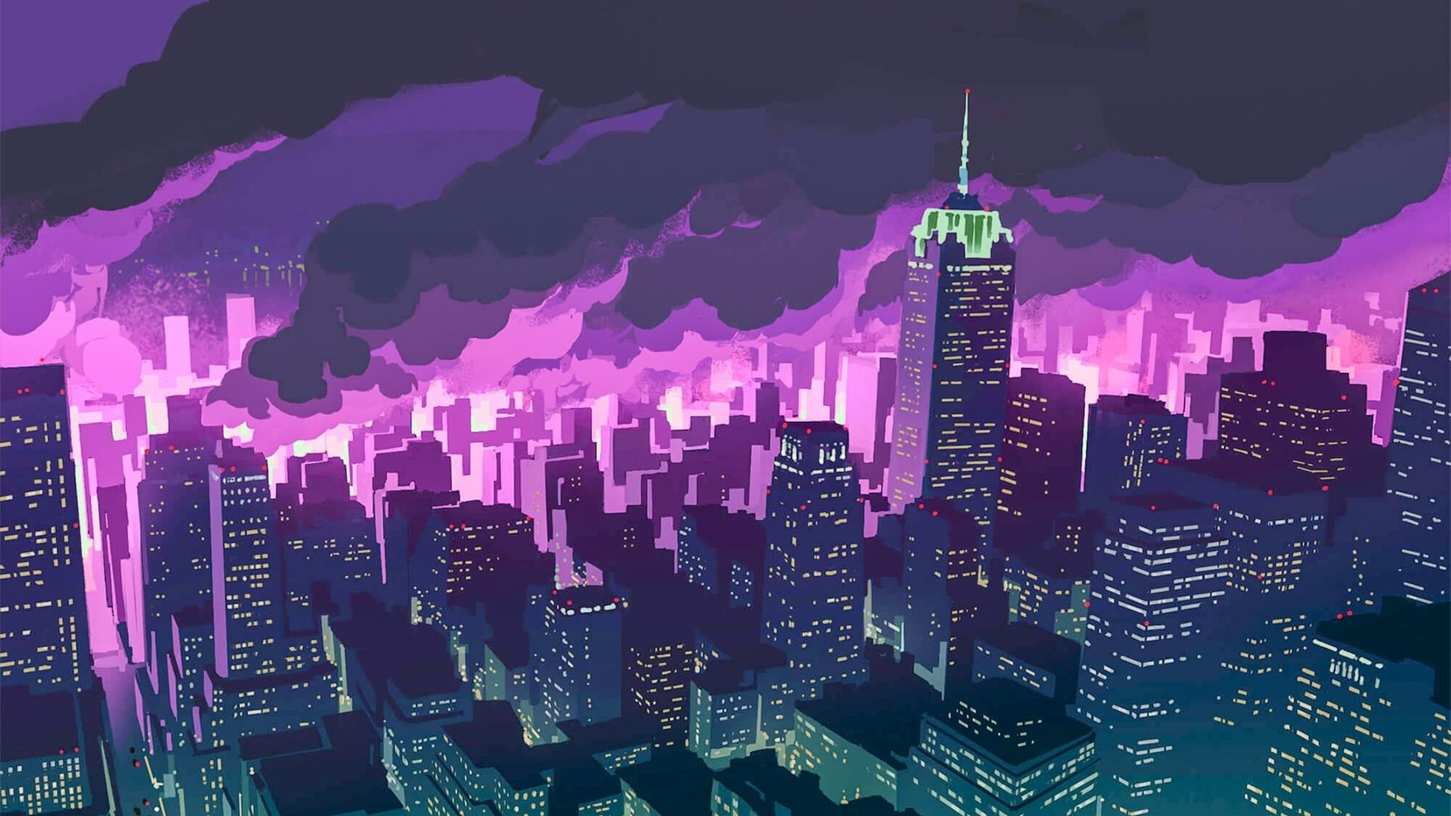 街の夜 48x1152壁紙 48x1152 Wallpapertip