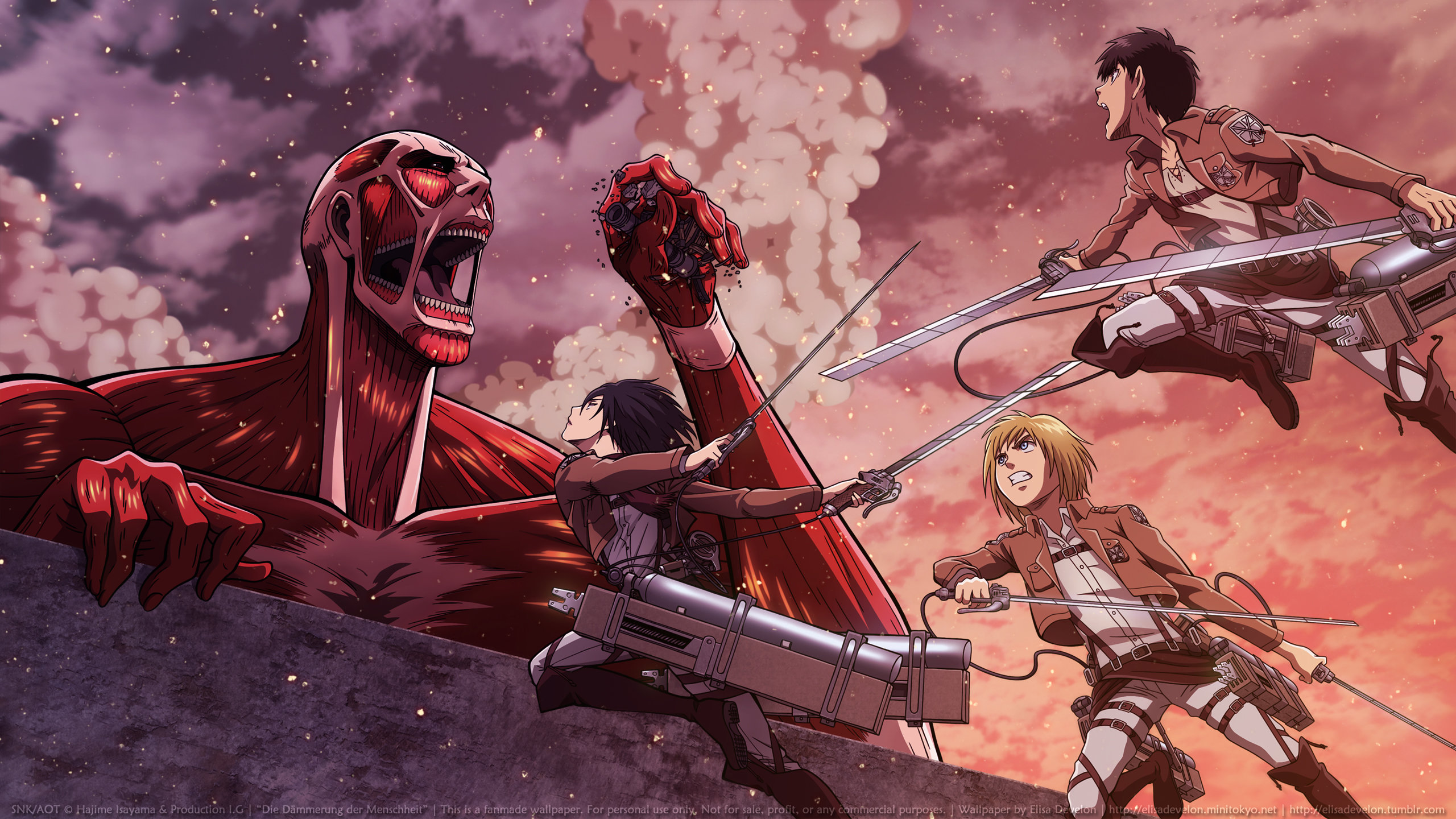 Best Attack On Titan Background Id Shingeki No Kyojin Wallpaper Hd 2560x1440 Download Hd Wallpaper Wallpapertip