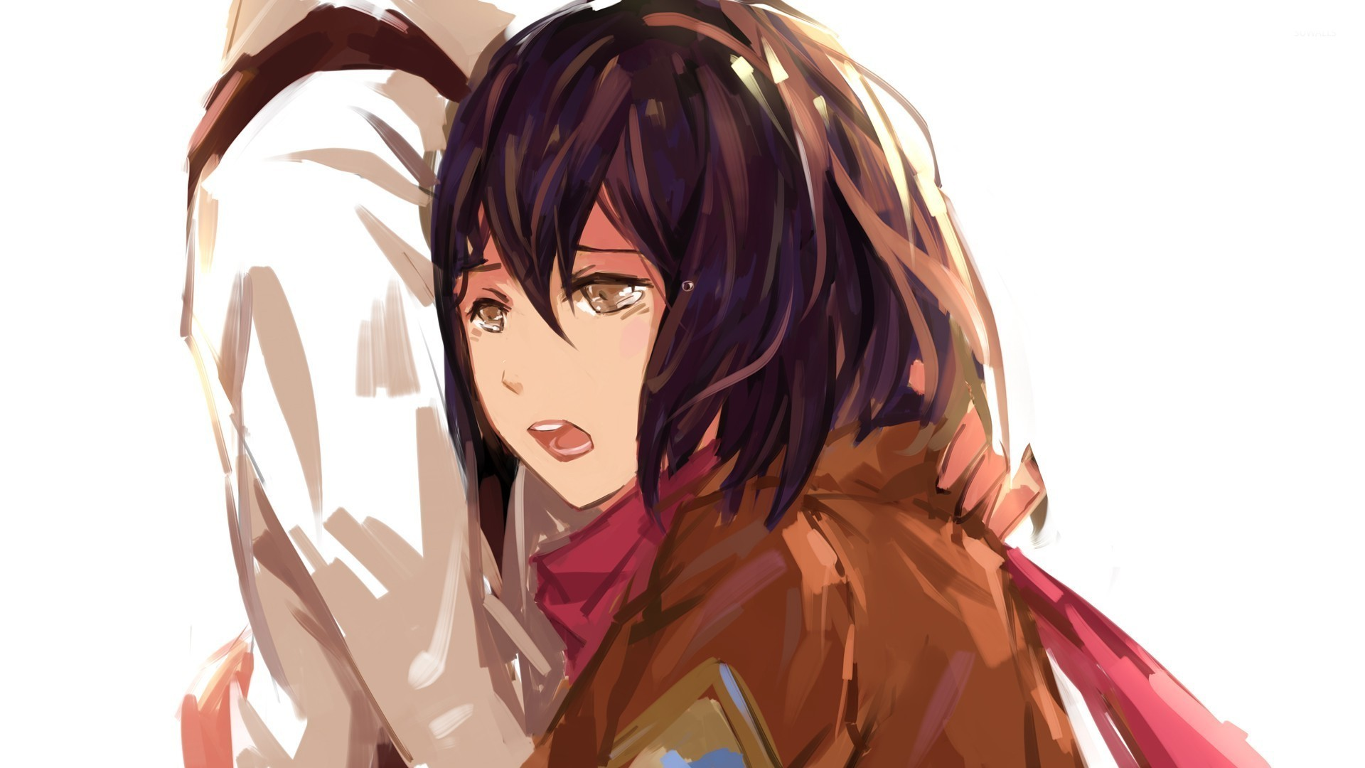 Mikasa Attack On Titan Wallpaper 4k 1920x1080 Download Hd Wallpaper Wallpapertip