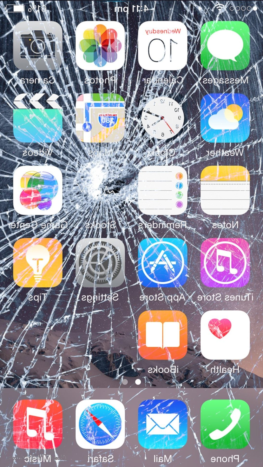 Cracked Screen Wallpaper Prank Broken Glass Iphone Wallpaper Prank 1080x1920 Download Hd Wallpaper Wallpapertip