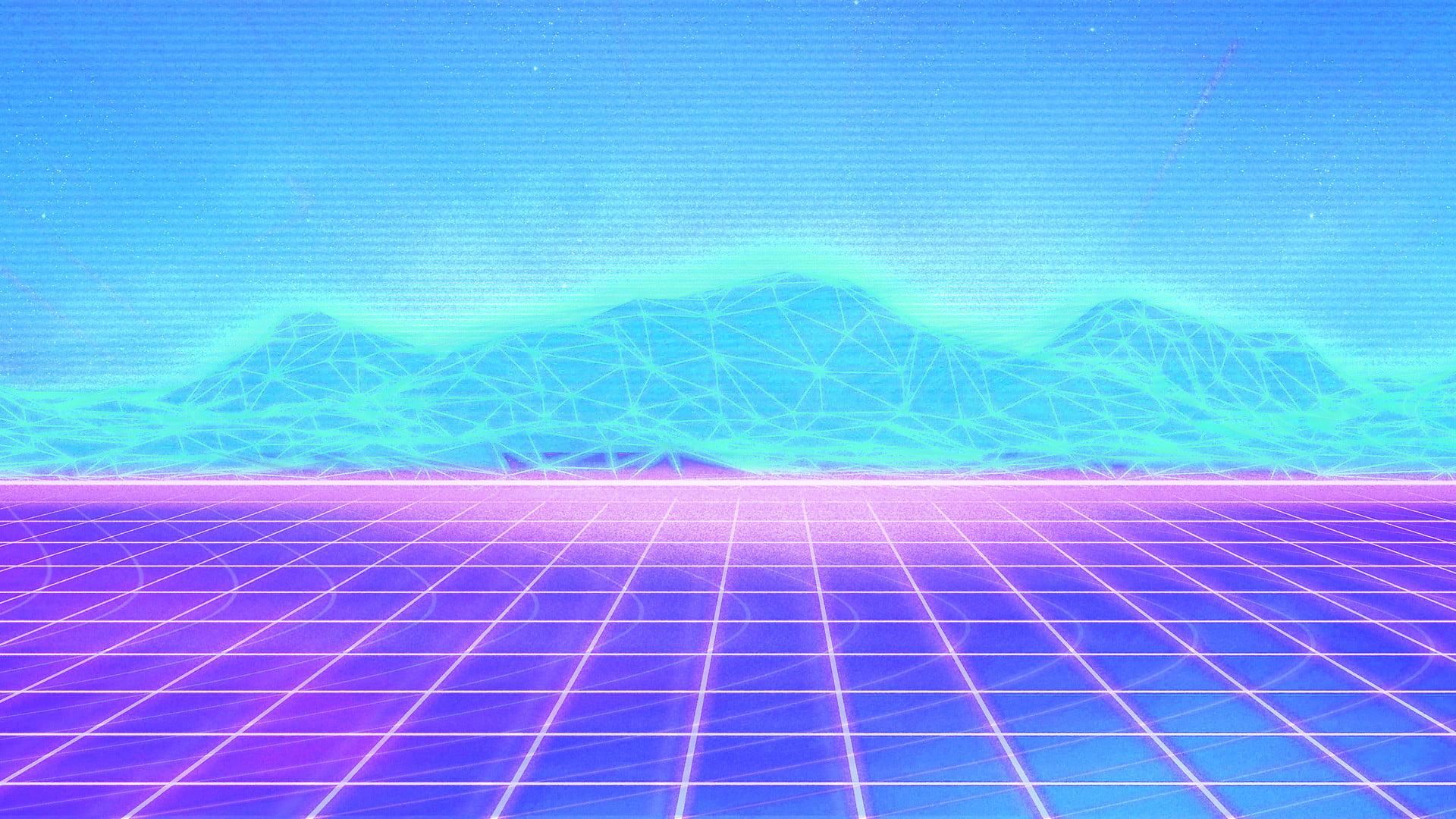 Vaporwave Hd Wallpapers Desktop Wallpaper Grid Vaporwave Background 1280x720 Download Hd Wallpaper Wallpapertip