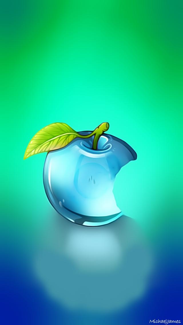 Apple Hd Wallpaper Download Glass Apple Full Hd 640x1136 Download Hd Wallpaper Wallpapertip