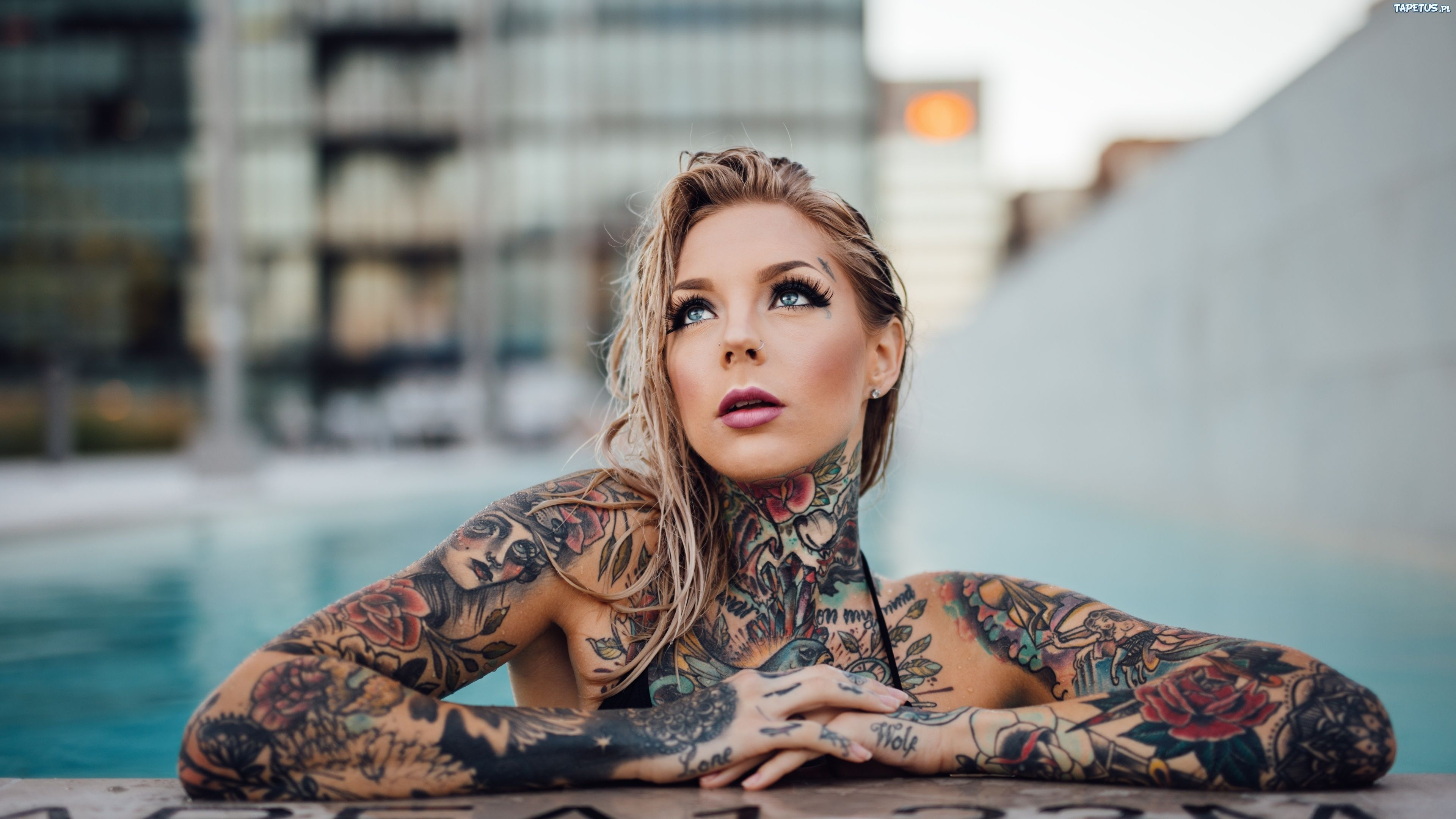 Tattoo Girl Desktop Wallpaper Tattooed Girl Wallpaper 4k 3840x2160 Download Hd Wallpaper Wallpapertip