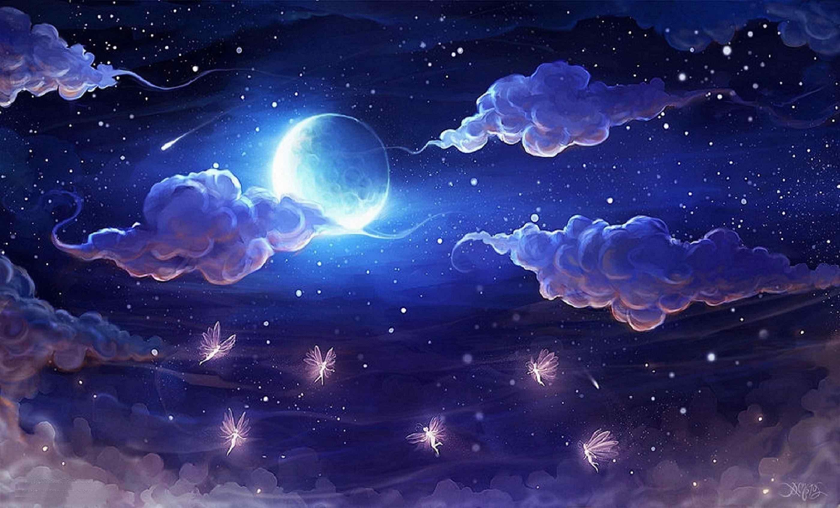 夜空の壁紙月 夜空の壁紙 2800x1695 Wallpapertip