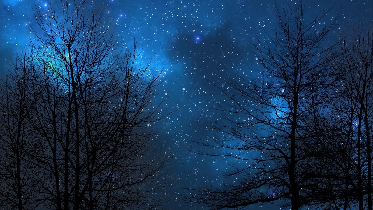 青い夜空の壁紙4k 夜空の壁紙 1280x7 Wallpapertip