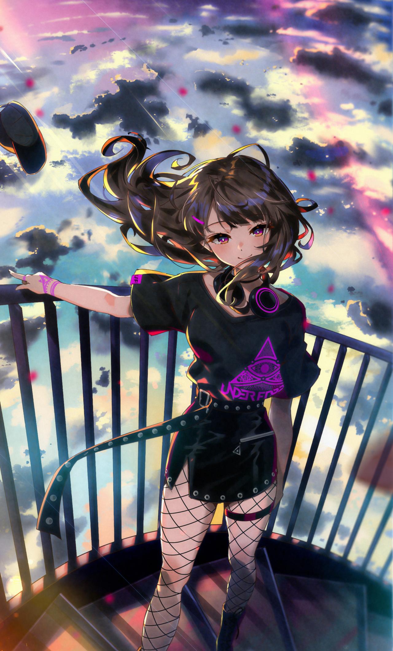 Iphone 11 Wallpaper Anime Girl Blue 4k Hd Download Anime Girl Wallpaper Portrait 1280x2120 Download Hd Wallpaper Wallpapertip