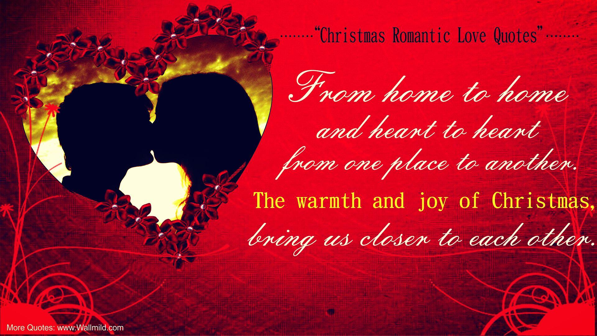 Romantic Christmas Love Quotes 1920x1081 Download Hd Wallpaper Wallpapertip