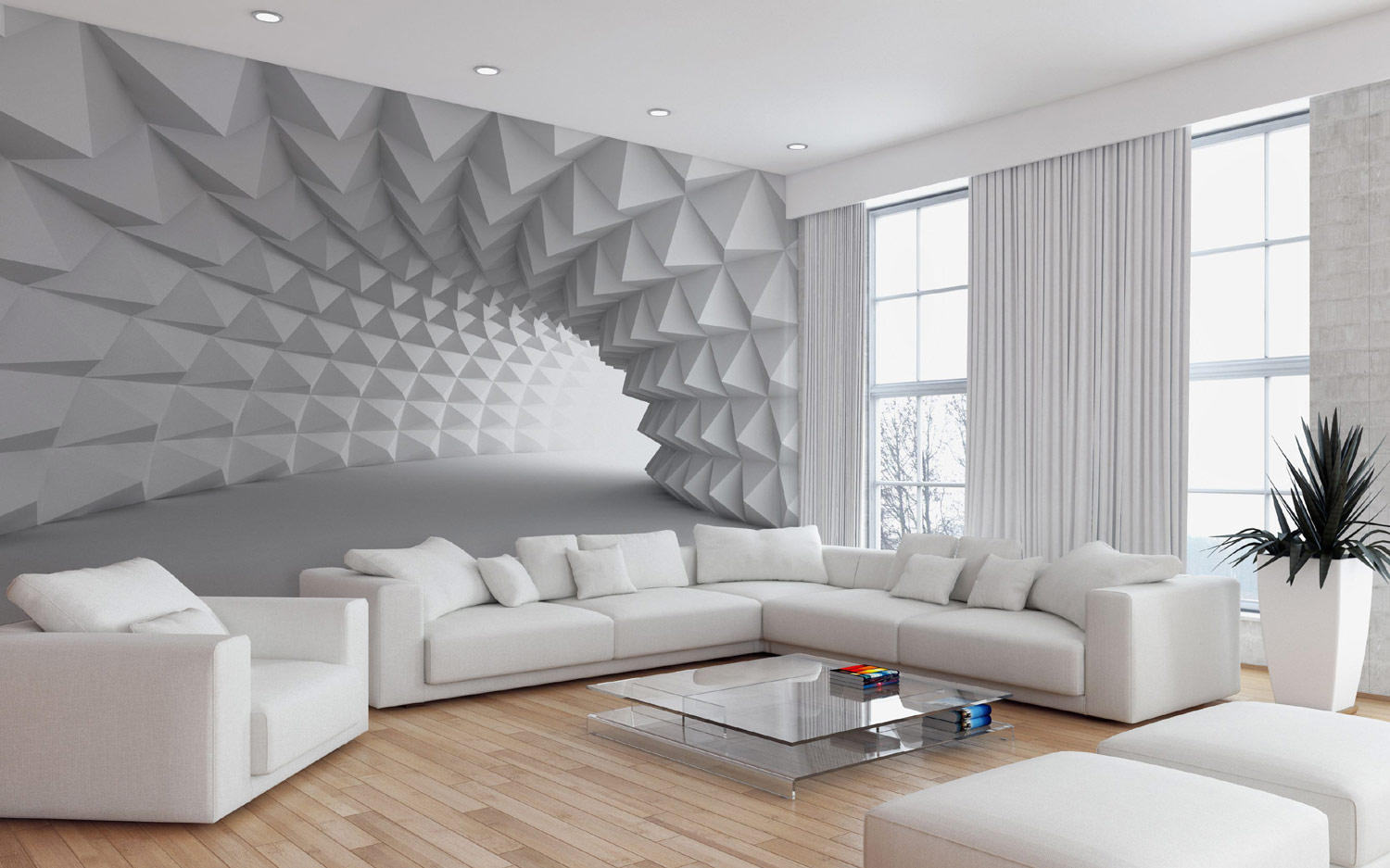 Modern 3d Wallpaper Murals For Living Room Modern Living Room Wallpaper Ideas 1500x937 Download Hd Wallpaper Wallpapertip
