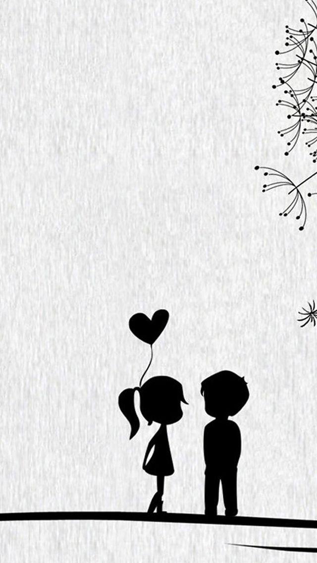 Dessin De Couple Mignon Facile Fond D Ecran Couple Iphone 640x1136 Wallpapertip
