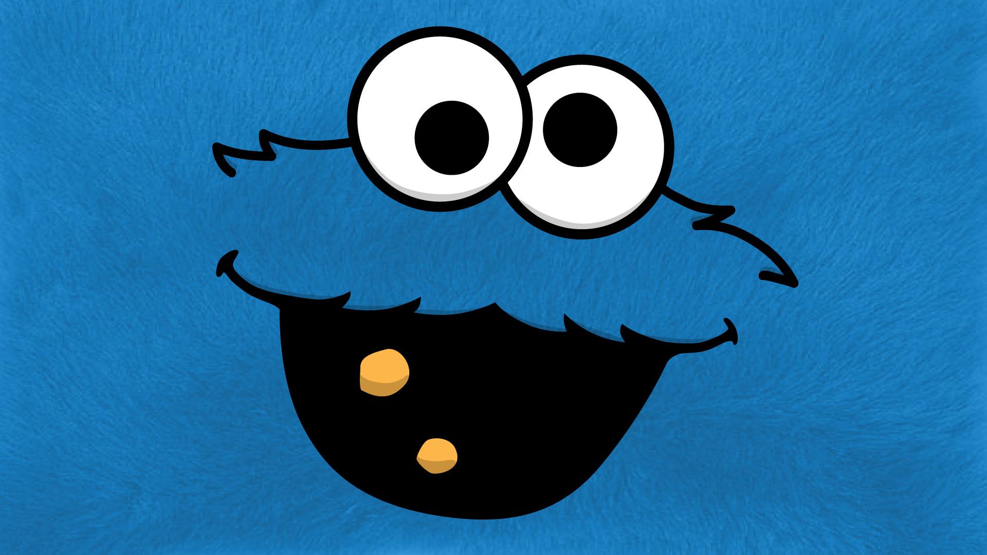Cookie Monster Hd Desktop Cookie Monster Mobile Wallpaper Cookie Monster Blue Background 1920x1080 Download Hd Wallpaper Wallpapertip