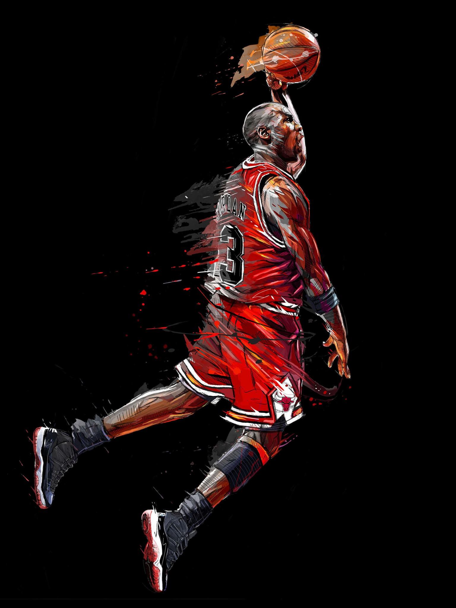 Michael Jordan Fan Art 1536x2048 Download Hd Wallpaper Wallpapertip