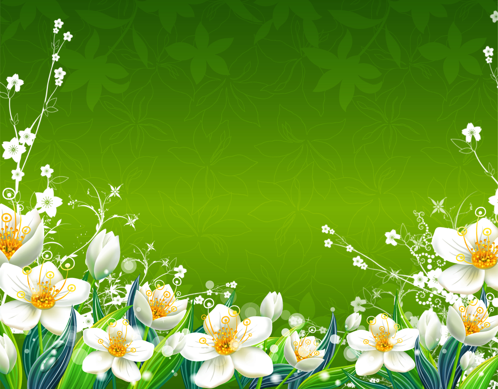 Green Flowers Wallpaper Green Flowers Spring Floral Green Flower Background Hd 1600x1250 Download Hd Wallpaper Wallpapertip