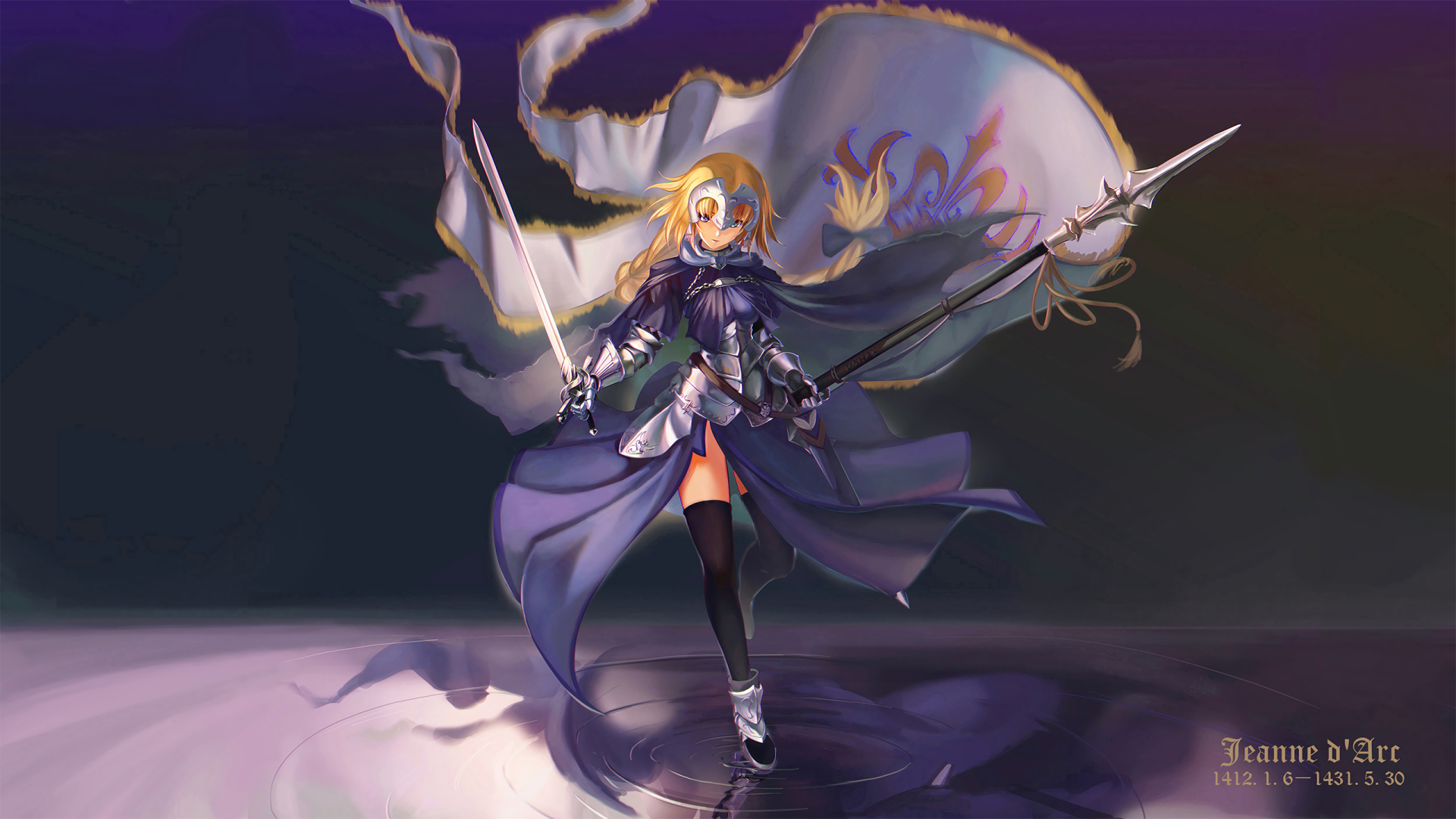 Title Ruler Anime Fate Grand Order Fate Series Fate Apocrypha Jeanne Spear 19x1080 Download Hd Wallpaper Wallpapertip