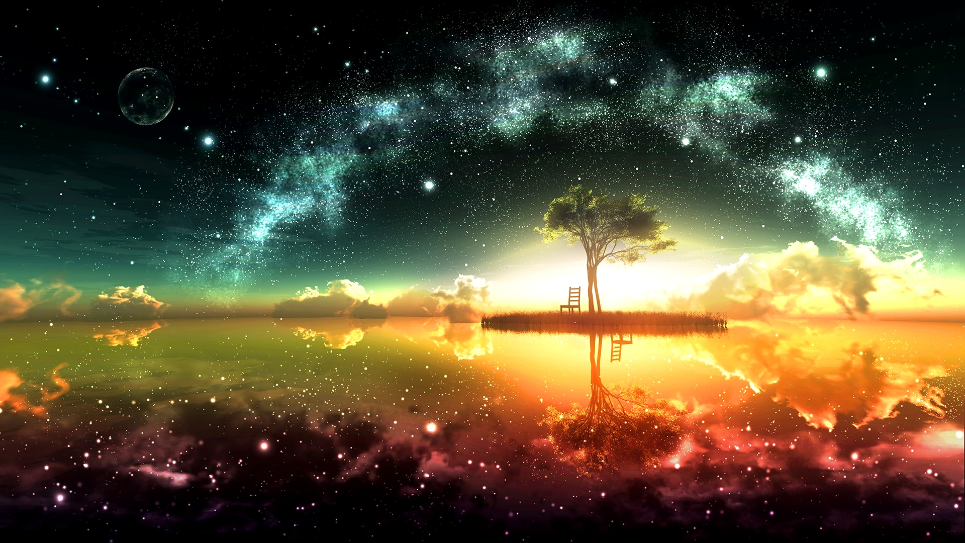 Surreal Space Wallpaper High Quality Space Backgrounds 1920x1080 Download Hd Wallpaper Wallpapertip