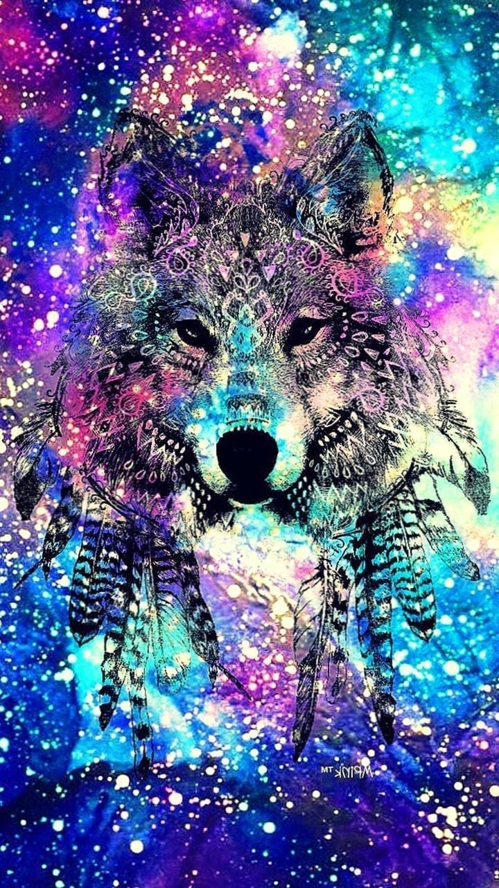 Galaxy Wolf Live Wallpaper Cool Crystal Wallpapers Wolf 720x1281 Download Hd Wallpaper Wallpapertip