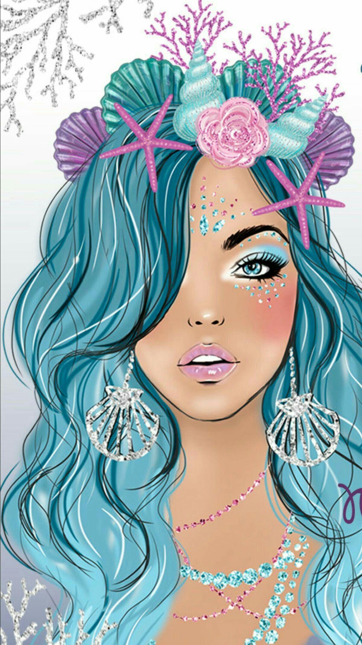 Unicorns And Mermaids Cute Wallpapers Mermaid Wallpapers Cute Wallpaper Mermaid 1200x2133 Download Hd Wallpaper Wallpapertip