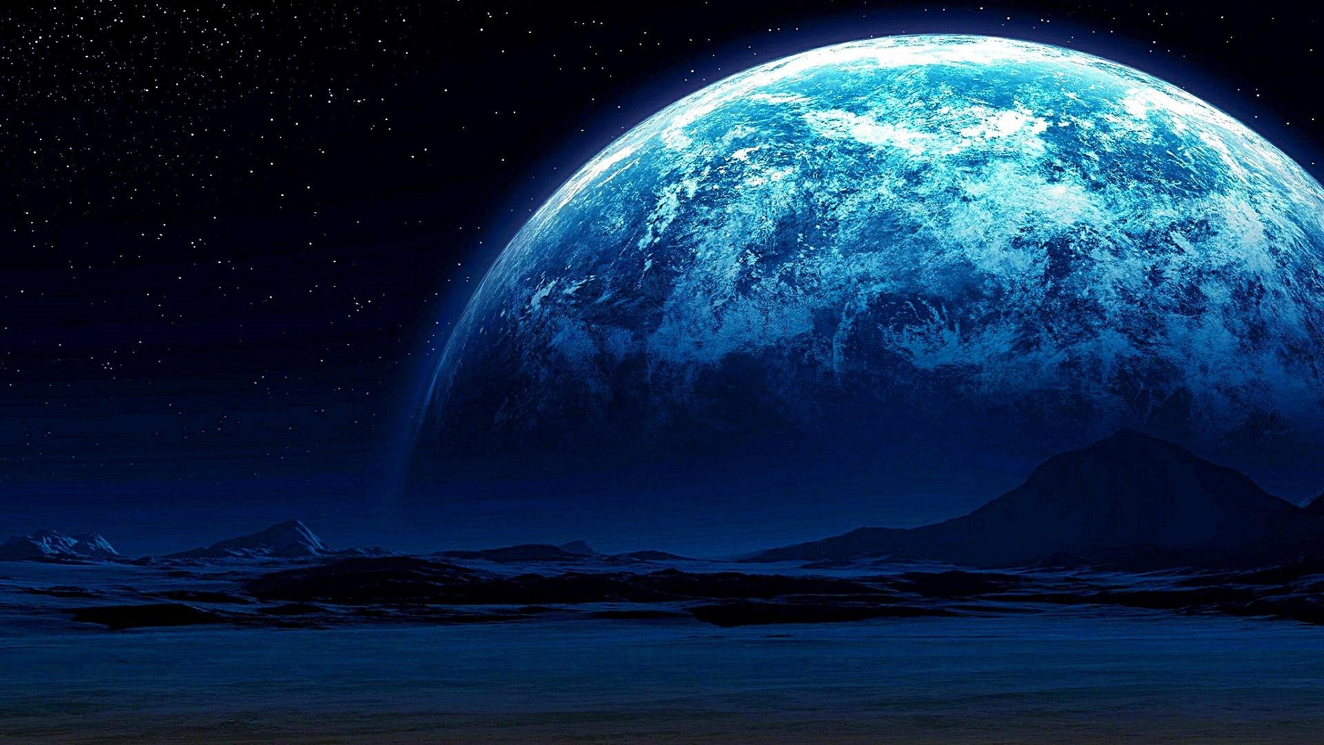 1920x1080 Earth View From The Moon Size 7680x4320 Blue Moon Art 1920x1080 Download Hd Wallpaper Wallpapertip