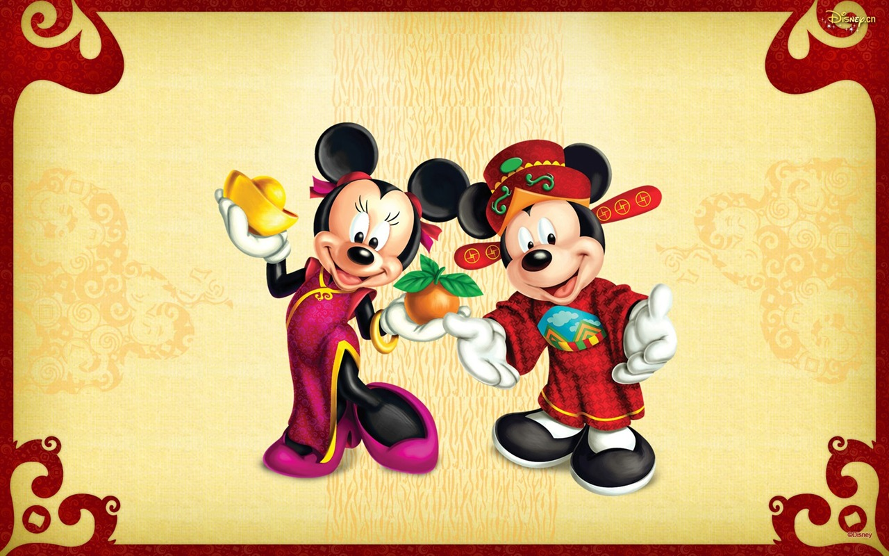 Cute Mickey Mouse Charaters Wallpaper Hd Happy New Year Disney 1280x800 Download Hd Wallpaper Wallpapertip