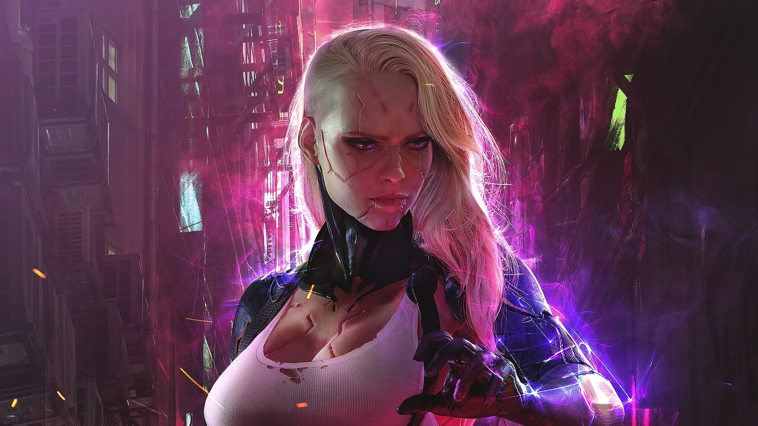 Cyberpunk Girl Sci Fi 4k Cyberpunk 2077 2560x1440 Download Hd Wallpaper Wallpapertip