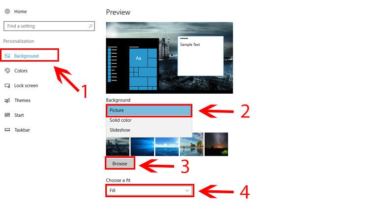 Cara Mudah Mengganti Wallpaper Windows 10 Dengan Foto Cara Mengganti Wallpaper Di Laptop Asus 750x430 Download Hd Wallpaper Wallpapertip