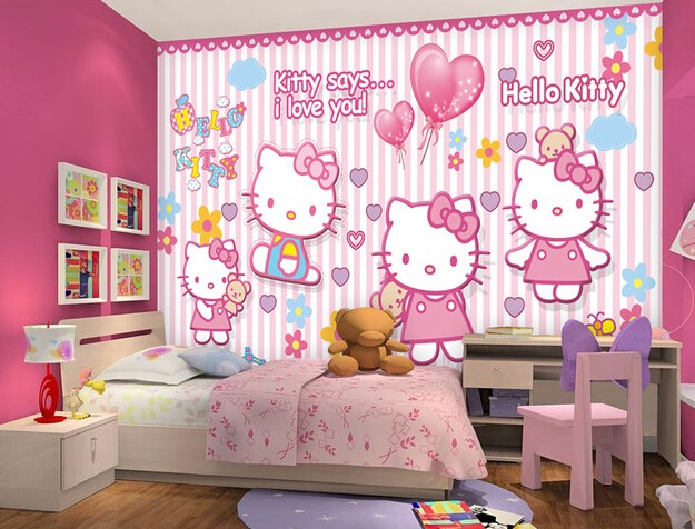 Wallpaper Dinding Kamar Anak Custom Wallpeper Hello Kitty 625x476 Download Hd Wallpaper Wallpapertip