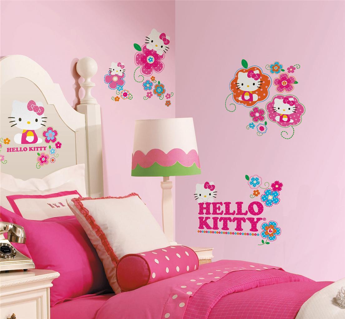 Kamar Anak Dengan Wallpaper Tema Hello Kitty Hello Kitty Wallpaper In Room 662x613 Download Hd Wallpaper Wallpapertip