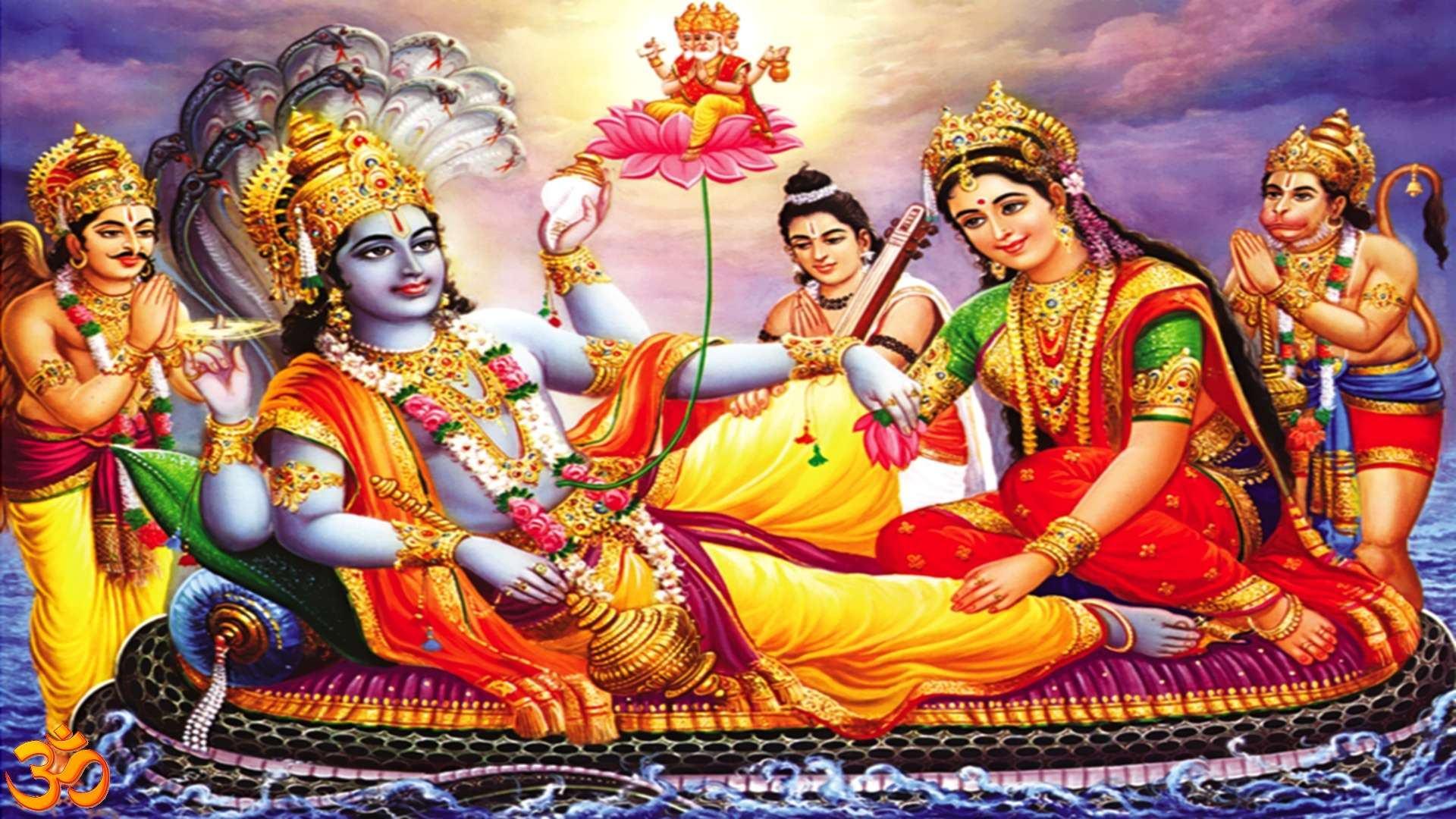 Mata Laxmi Beautiful Picture Vishnu Ji With Laxmi Ji 1920x1080 Download Hd Wallpaper Wallpapertip