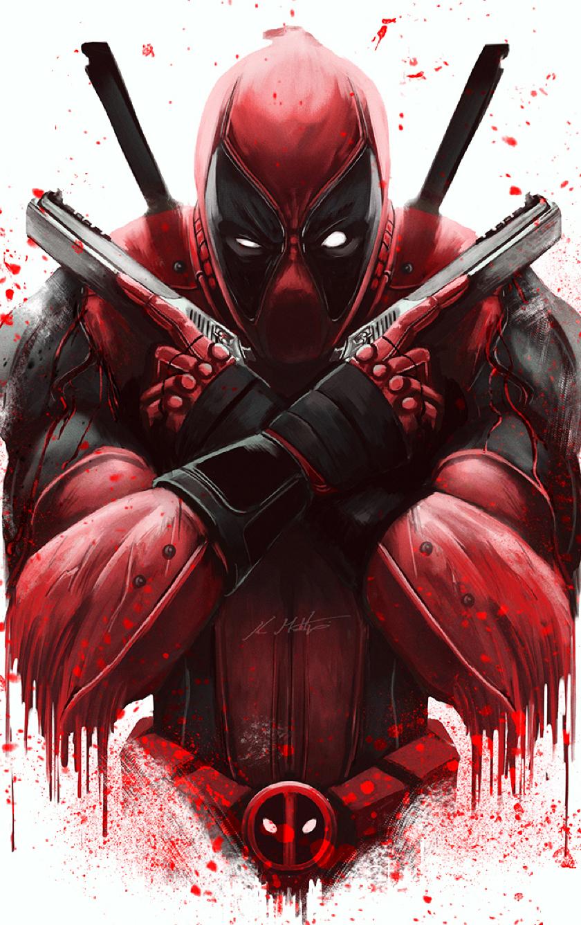 Deadpool Smartphone Wallpaper 4k 840x1336 Download Hd Wallpaper Wallpapertip