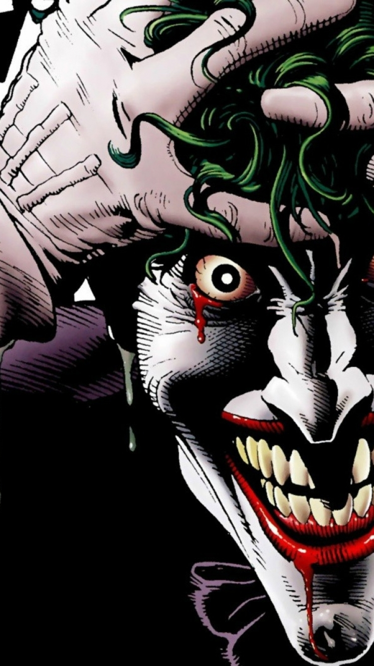 Wallpaper Joker Comic Wallpaper Iphone 750x1334 Download Hd Wallpaper Wallpapertip