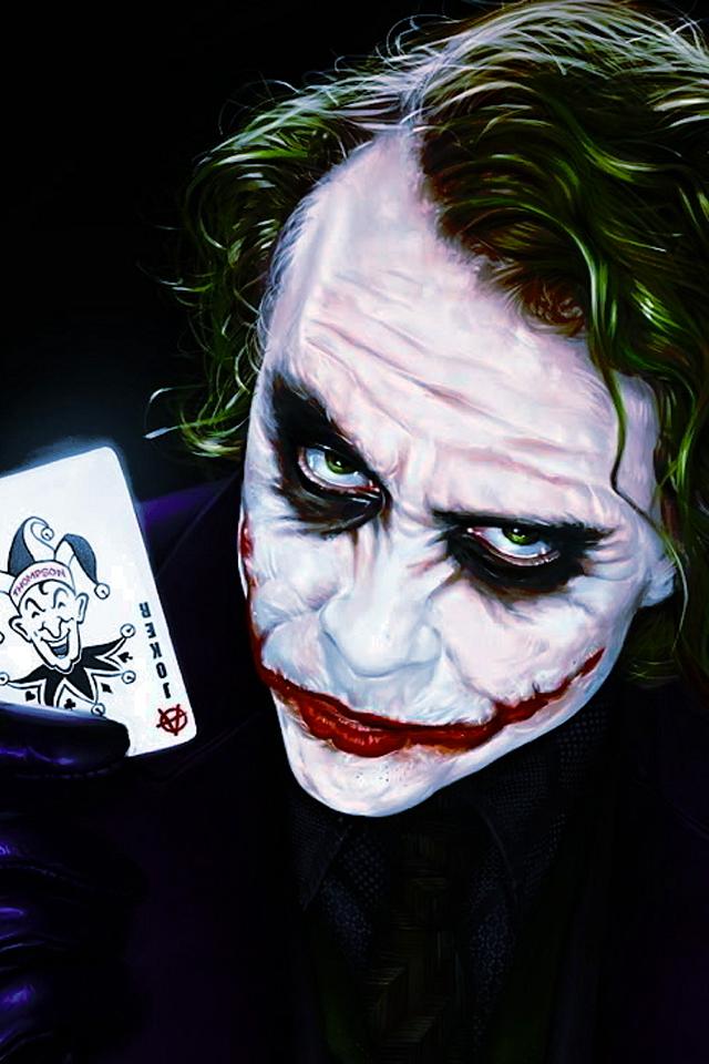 Joker Dark Knight Iphone Wallpapers Hd Iphone Wallpaper Dark Knight Joker Hd 640x960 Download Hd Wallpaper Wallpapertip