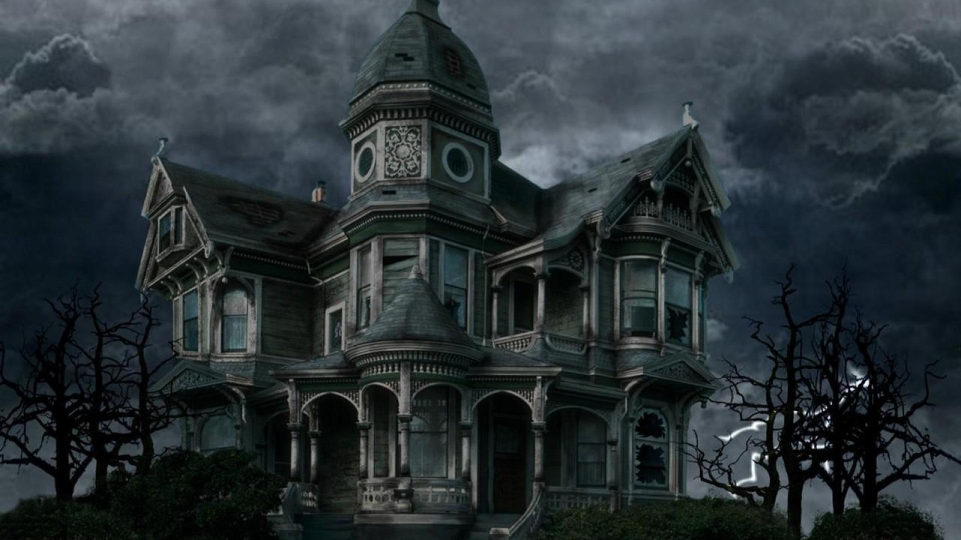 Haunted House Wallpaper Desktop Haunted House Gif 1920x1080 Download Hd Wallpaper Wallpapertip
