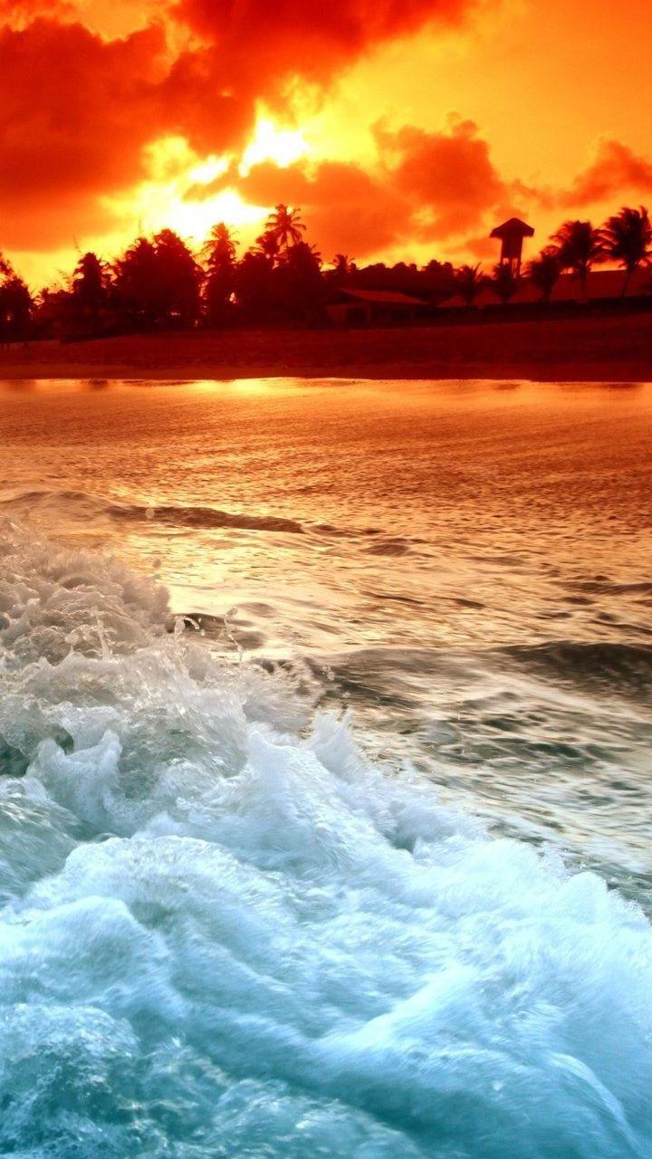 Background Hd Wallpaper Hd Iphone Wallpaper Ocean Sunset 720x1280 Download Hd Wallpaper Wallpapertip